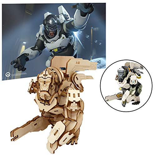 (Overwatch Winston Poster and 3D Wood Model Figure Kit - Build, Paint and Collect Your Own Wooden Model - Great for Kids and Adults,12+ - 5