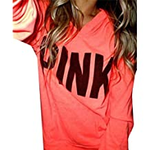 YLnini Womens Casual Crew Neck Letter print Long Sleeve Sweatshirt