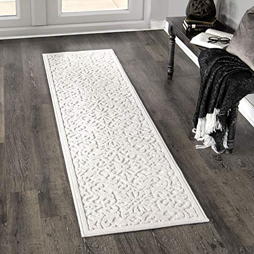 Orian Rugs Boucle Collection 397062 Indoor/Outdoor High-Low Biscay Runner Rug, 1'11