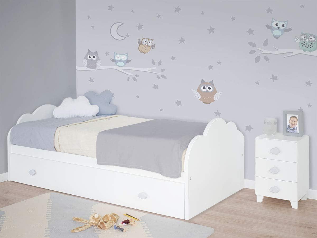 Bainba Cama Nido Nube Infantil (para colchón 105 x 190 cm)