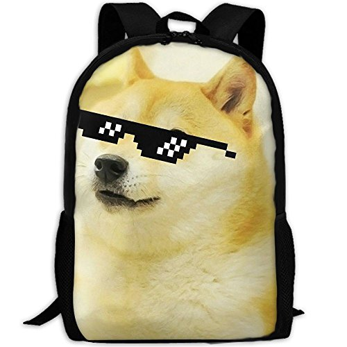 Cool Doge With Sunglass Adult Backpack College Daypack Oxford Bag Unisex Business Travel Sports - Durango Sunglasses