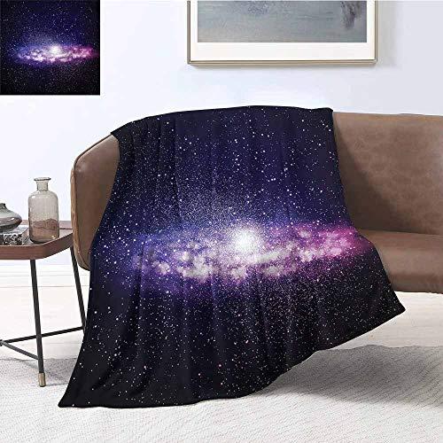 DILITECK Sofa Blanket Galaxy Nebula Cloud Milky Way Print Artwork W60 xL91 Traveling,Hiking,Camping,Full - Full Sleeper Galaxy Sofa