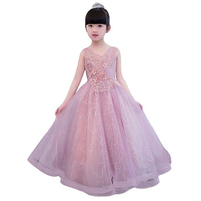 LSERVER Elegante vestido de nina de gasa para ceremonia fiesta Y ...