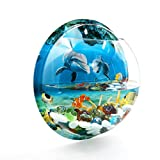 uxcell Acrylic Wall Mounted Hanging Fishbowl Plant Bubble Bowl 10.2inch Dia/1.2 Gallon Fish Tank