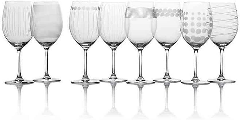 Mikasa Cheers Fine European Crystal Red Wine Glasses, 24-Ounce, Set of 8