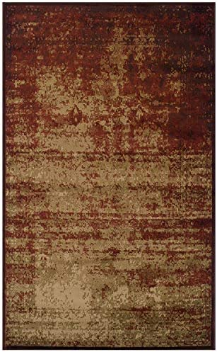 Blue Nile Mills Afton 8 x 10 Auburn Area Rug, Contemporary Living Room Bedroom Area Rug, Anti-Static and Water-Repellent for Residential or Commercial Use, 8-feet by 10-feet