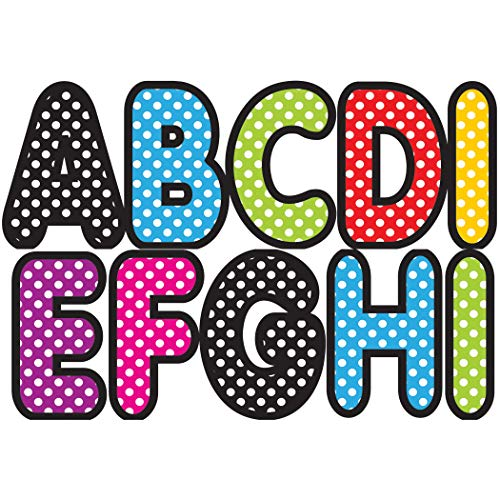 Ashley Productions Designer Polka Dot Magnetic Uppercase Letters (57 Piece), Assorted Colors