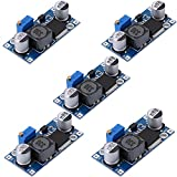 eBoot 5 Pack Boost Converter Module XL6009 DC to DC 3.0-30 V to 5-35 V Output Voltage Adjustable Step-up Circuit Board