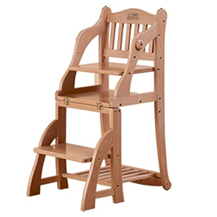 Amazon.com: Th Multifunction Child Dining Chair Solid Wood ...
