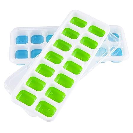 Sukuos - Moldes para cubitos de hielo con tapa sin BPA y con ...
