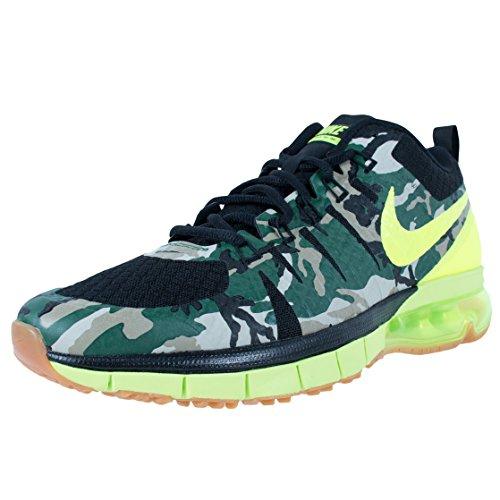Men's Nike Air Max TR180 Amp Training Shoe Black/Gum Med Brown//Volt Size 11 M US
