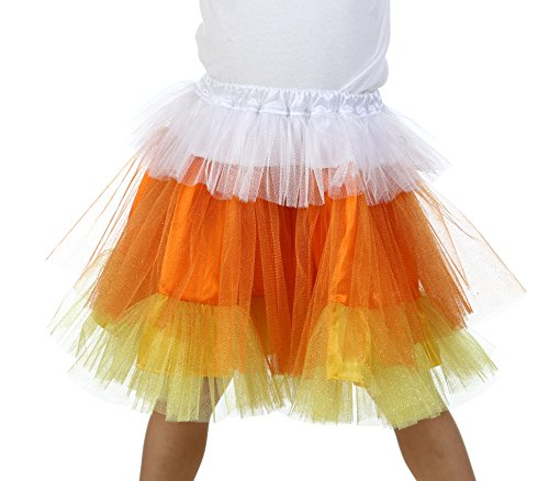 Premium Candy Corn Glitter Skirt]()