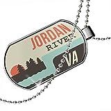 Dogtag USA Rivers Jordan River - Virginia Dog tags necklace - Neonblond