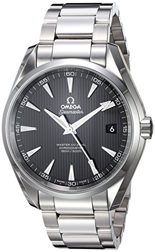 Omega Men's 'Seamaster150' Swiss Automatic Stainless Steel Dress Watch, Color:Silver-Toned (Model: 23110422101003)