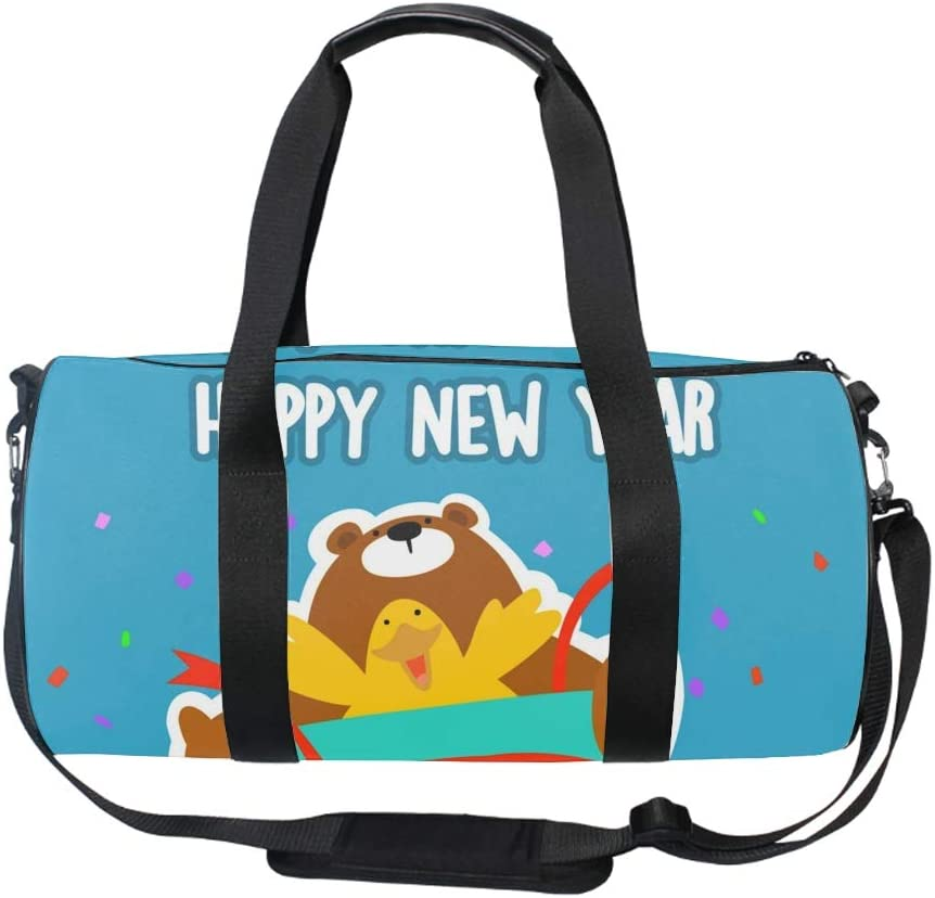 Cute Bear And Owls Gym Sports Small Duffel Bag for Men and Women with Shoes Compartment