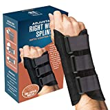 Wrist Brace - Carpal Tunnel Wrist Brace and Hand Splint Guard for Support, Tendonitis Pain, and Healing Wrist Injury Pain with Copper Healing Power - by FlexTrek (Right Hand)