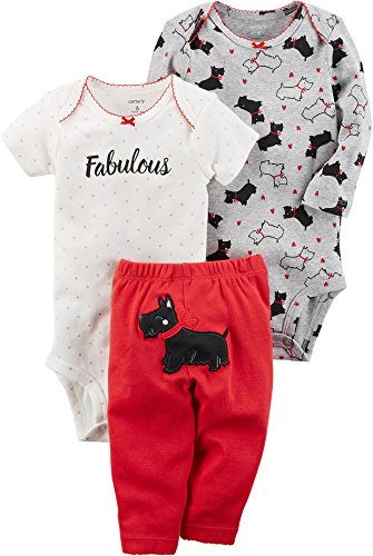 Carter's Baby Girls' 3 Piece Dog Little Character Set