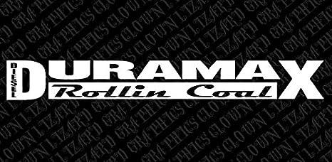 Duramax Diesel Rollin Coal Windshield Vinyl Banner Wall Decal 40 X 5 With Free Bumper Sticker