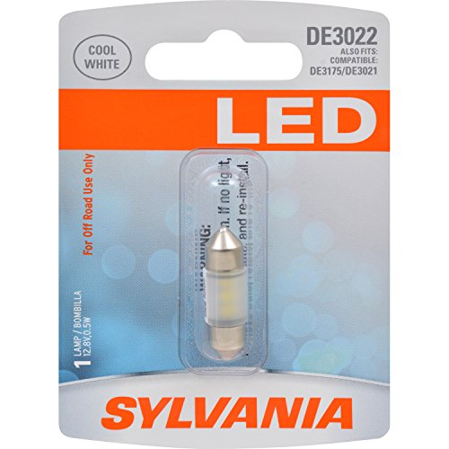 SYLVANIA - DE3022 31mm Festoon LED White Mini Bulb - Bright LED Bulb, Ideal for Interior Lighting - Map, Trunk, Cargo and License Plate (Contains 1 Bulb)