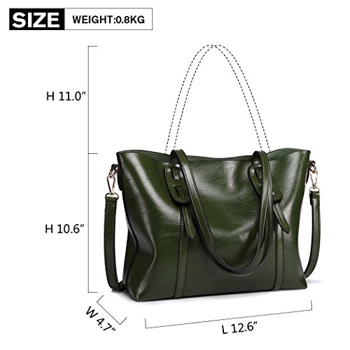 Top Green Ladies Tote Large Body Bag Shoulder Handbag Leather Women Bag Stylish Cross Miss Purse Lulu Pu Handle Classic Capacity 6HqUTxHvw