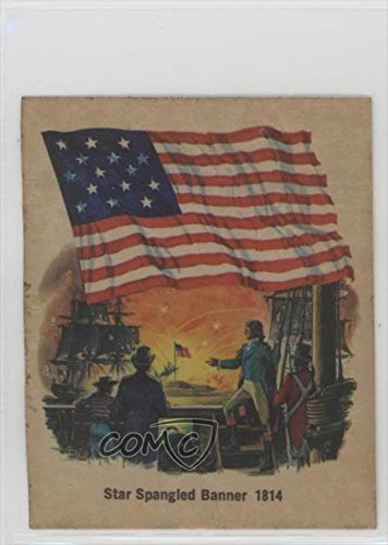 star-spangled-banner-1814-comc-reviewed-good-to-vg-ex-trading-card-1976-quality-bakers-flags-of-amer