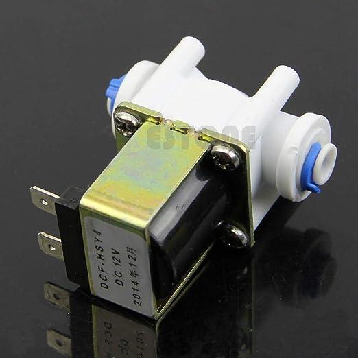 CHENSHUAI Electroválvula eléctrica para purificador de Agua Ionizador Refrigerador Normalmente Cerrado DC 12V: Amazon.es: Hogar