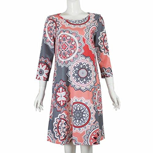 ... LHWY Kleider Damen Elegant, Frauen Sommer Vintage Boho Maxi  Abendgesellschaft Kostüm Tops Strand Blumenkleid O ... 812c3f75c5