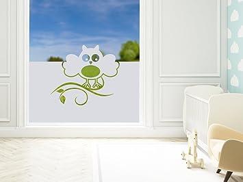 Perfekt Graz Design 980131_80x57 Sichtschutzfolie Fenstertattoo Fensteraufkleber  Kinderzimmer Eule Blatt Tier Vogel (Greu003d80x57cm)