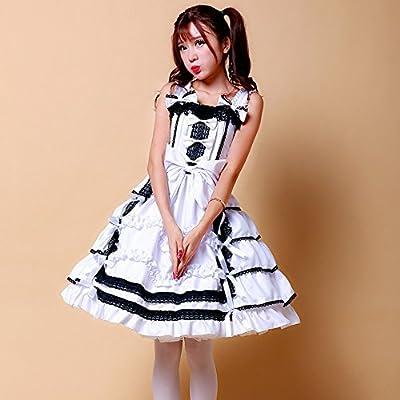 Nuoqi Womens Anime Cosplay Costume Nico Yazawa Lolita Bowknot Bubble Layered Dress