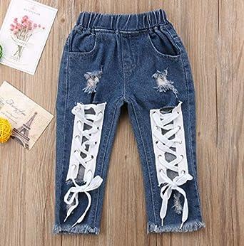 Kids Baby Boy Girls Clothing Pants Denim Jeans B Age Denim Jeans Long Pants Girl
