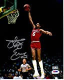 "Julius ""Dr. J"" Erving Autographed Philadelphia 76ers 8x10 Photo - PSADNA"