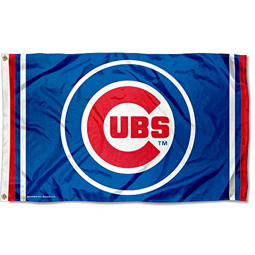 Chicago Cubs Circle Logo Flag (Chicago Cubs Tailgating)