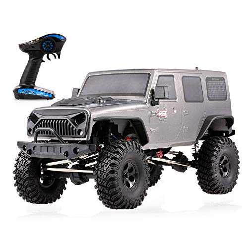 (HUAXING RGT RC Car 15Km/h 1:10 2.4G 4WD RC Rock Crawler Off-Road Monster Climbing Car Kids Toy for Chidlren,Silver)