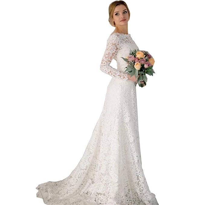 Vestidos de novia manga larga vintage