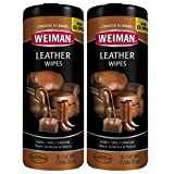 Weiman Leather Wipe, 30 Count(Pack of 2)