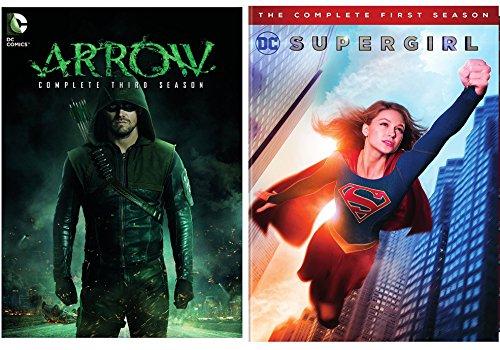 DC's Supergirl: Season 1 + Arrow Complete Third Season DVD Super Hero Bundle Movie Pack DC Comics