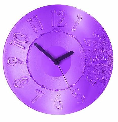 Guzzini VIOLA GLICINE 04990001 Time 2 Go Arredo Orologio da parete ...