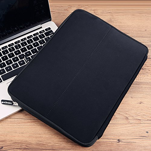 Guaiboshi Laptop-Tasche, für die meisten Laptops, Notebooks, Tablets mit einer Größe von 33 bis 33,8 cm, grau schwarz