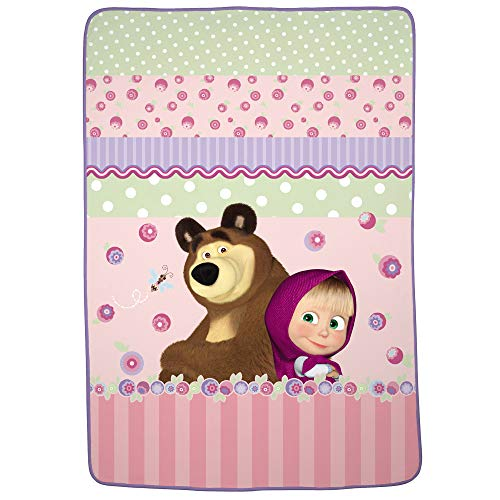 "Franco Kids Bedding Super Soft Plush Blanket, Twin/Full Size 62"" x 90"", Masha and The Bear from Franco"