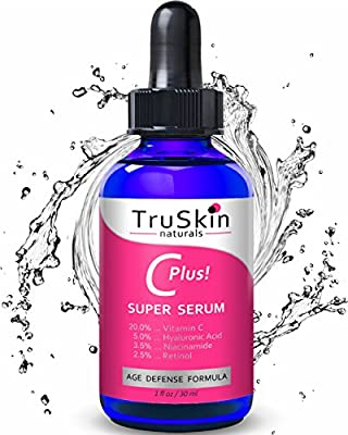 Vitamin C-Plus Super Serum, Anti Aging Anti-Wrinkle Facial Serum with Niacinamide, Retinol, Hyaluronic Acid, and Salicylic Acid