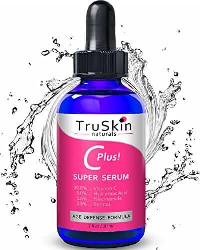 Vitamin C-Plus Super Serum, Anti Aging Anti-Wrinkle Facial Serum with Niacinamide, Retinol, Hyaluronic Acid, and Salicylic Acid