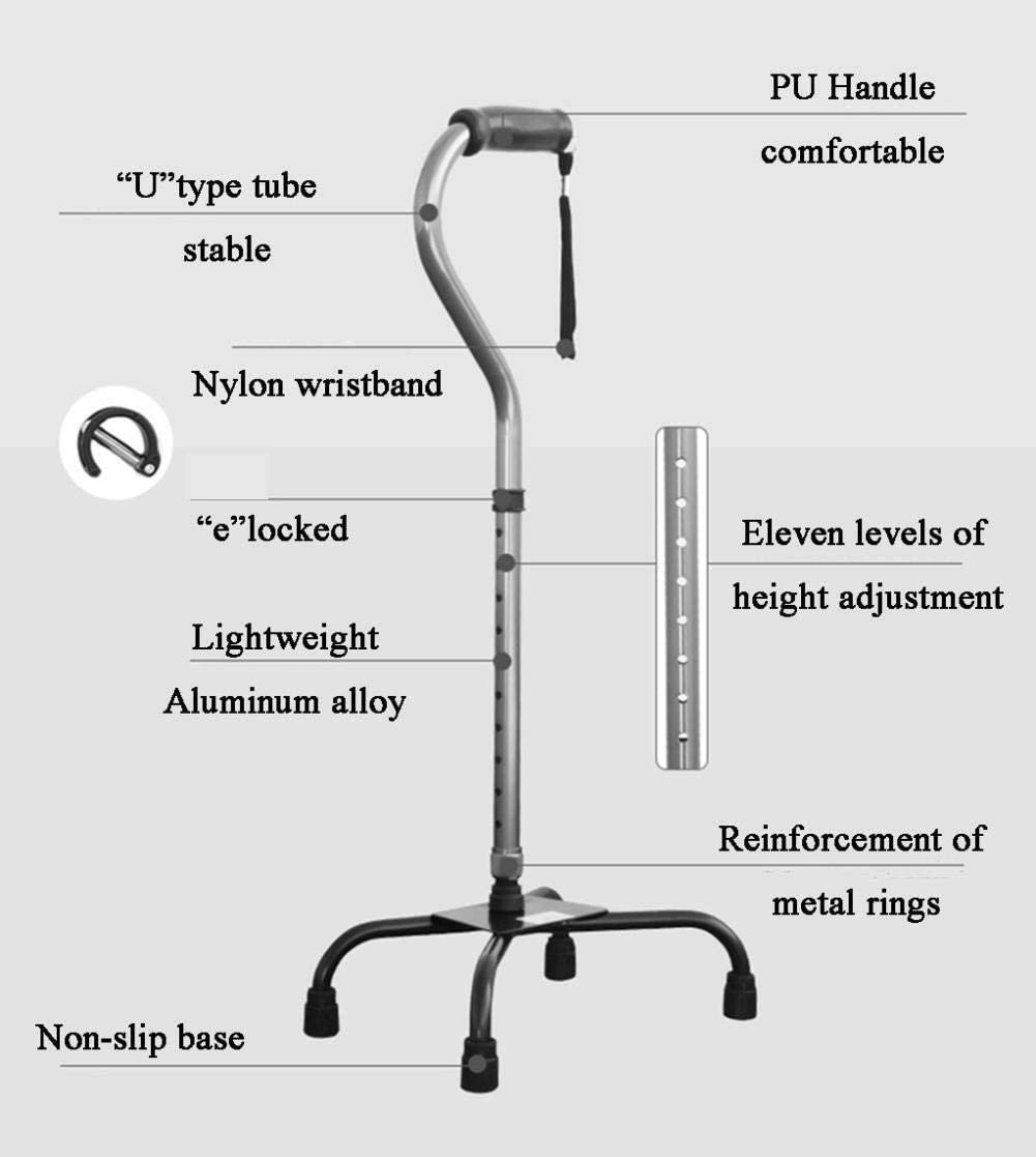 Lightweight Walking Assisstant Device for Elderly Handicapped Adjustable Cane for Stability and Support and Disabled Users HHXX Walking Sticks