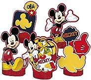 Regina Decoracao De Mesa R276 Mickey Classico Pacote De 05 Unidades