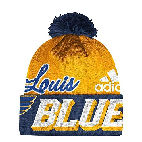 f0c6ac50f4f ... cuffless beanie hat from Zephyr! Officially Liscensed by the NHL. St.  Louis Blues Beanie at Amazon.com