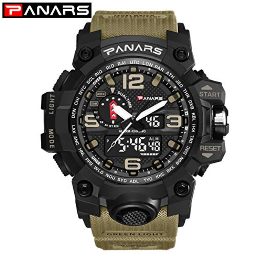 waotier Hombres Reloj Deportivo Multi Function Mens Electronic ...