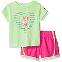 New Balance Baby Girls Athletic Tee and Short Set