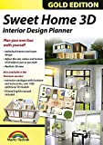 Software : Sweet Home 3D Edition - Interior Design Planner with an additional 1100 3D models and a printed manual, ideal for architects and planners - for Windows 10-8-7-Vista-XP & MAC