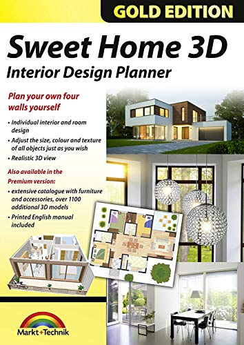 Sweet Home 3D Premium Edition - Interior Design Planner with an additional 1100 3D models and a printed manual, ideal for architects and planners - for Windows 10-8-7-Vista-XP & MAC (Home Design Software Mac)
