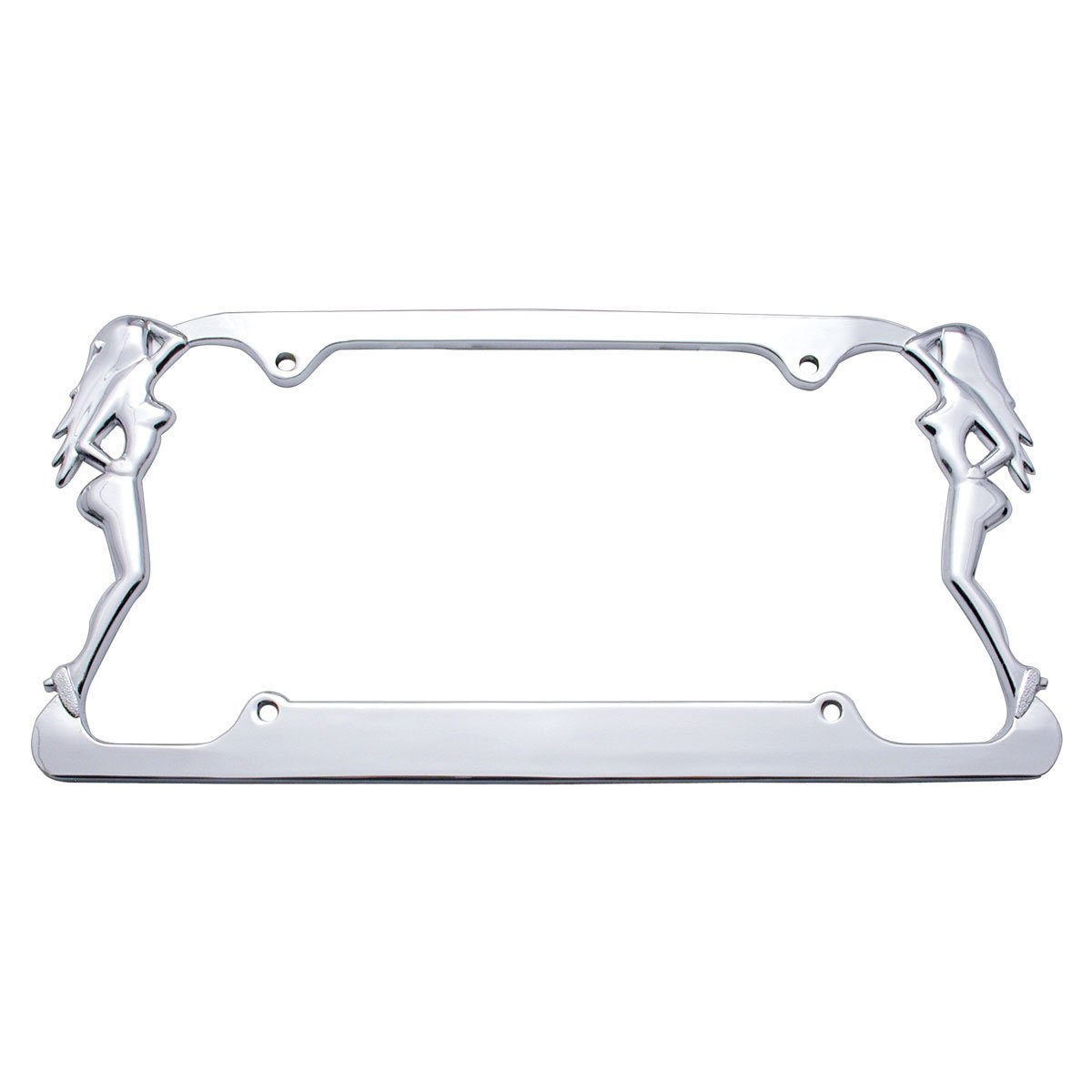 United Pacific 50007 Chrome Nude Lady License Plate Frame