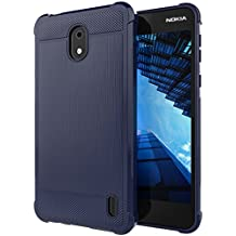 Nokia 2 Case,ANLI [Slim Fit] [Shock Resistant] Soft TPU Brushed Anti-fingerprint Full-body Protective Case Cover For Nokia 2 Deep Blue